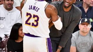 """LeBron, messaggio a Kobe: """"Fratello, porterò avanti la tua eredità"""""""