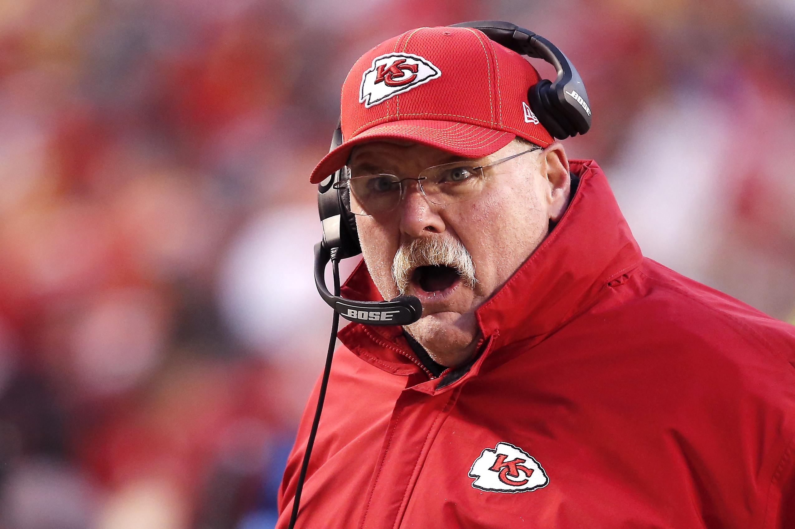 L'allenatore dei Chief, Andy Reid. Insegue il suo primo anello dopo esserci andato vicino nel 2004 con i Philadelphia Eagles.