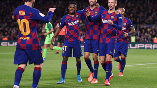 Messi da record, il Barça schianta il Leganes e vola ai quarti. Siviglia ko