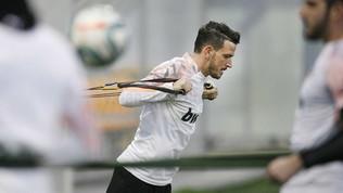 Florenzi, primo allenamento al Valencia