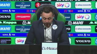 """Sassuolo,""""De Zerbi: """"Serata bellissima, spero sia per noi una svolta mentale"""""""