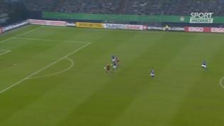 Hertha Berlino, il primo gol di Piatek