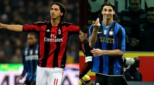 I derby milanesi di Ibrahimovic: gol, niente pareggi e un trofeo