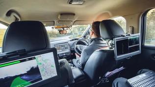 Guida autonoma: percorsi 370 km sulle strade inglesi