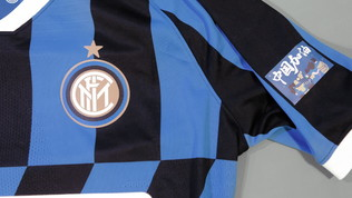 Coronavirus, Inter in campo nel derby con una patch speciale