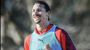 Milan, sorriso Ibra: al derby sarà titolare