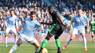 Nel lunch-match della 23a giornata di Serie A, il Sassuolo batte 2-1 in rimonta la Spal: decisivo Boga al 90'.