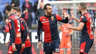 Il Genoa si aggrappa a Pandev, il Cagliari cade al Ferraris