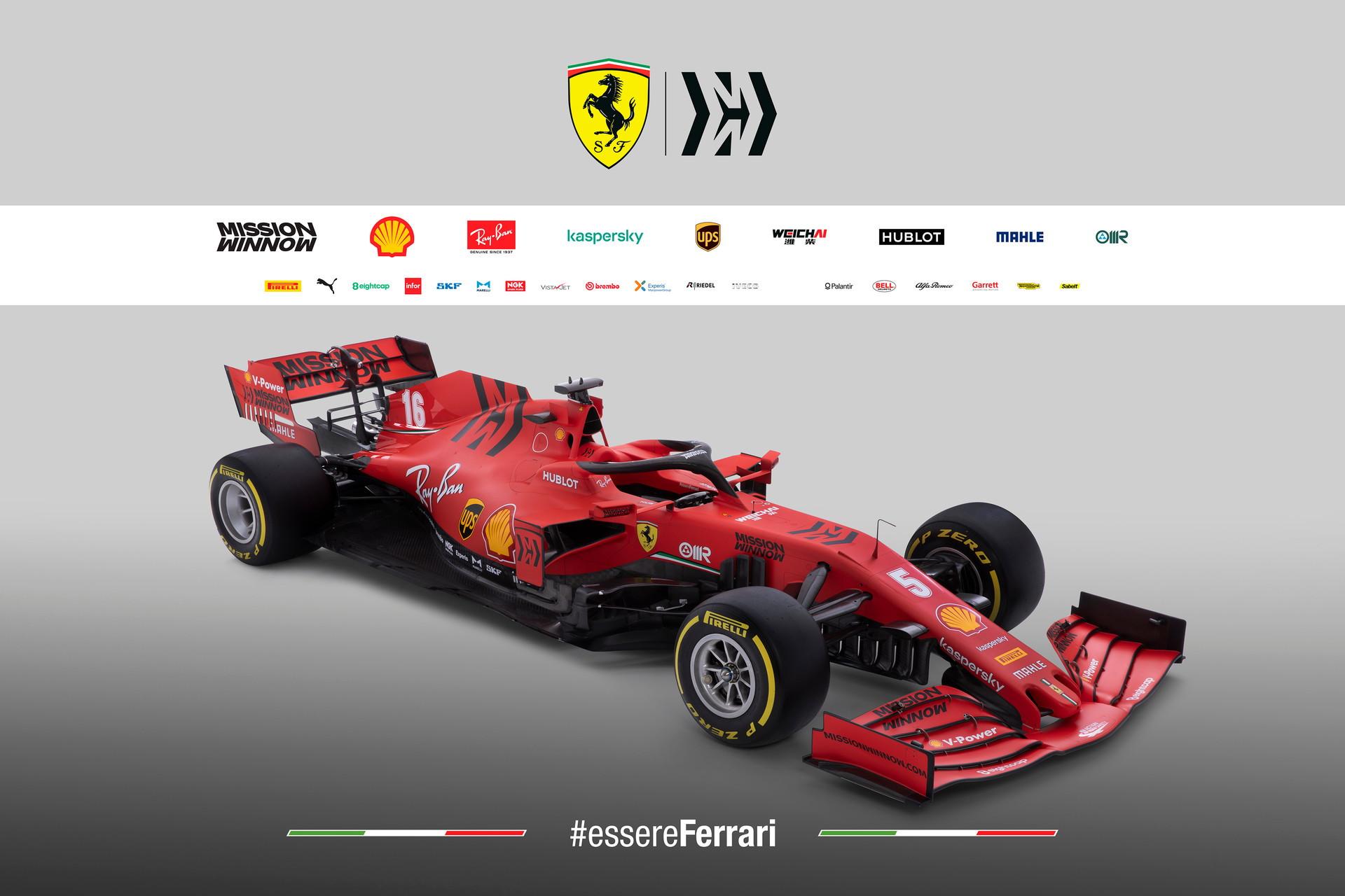 Svelata la monoposto che lotterà per il Mondiale 2020: confermato il rosso opaco, scelto un font retrò per i numeri di gara.