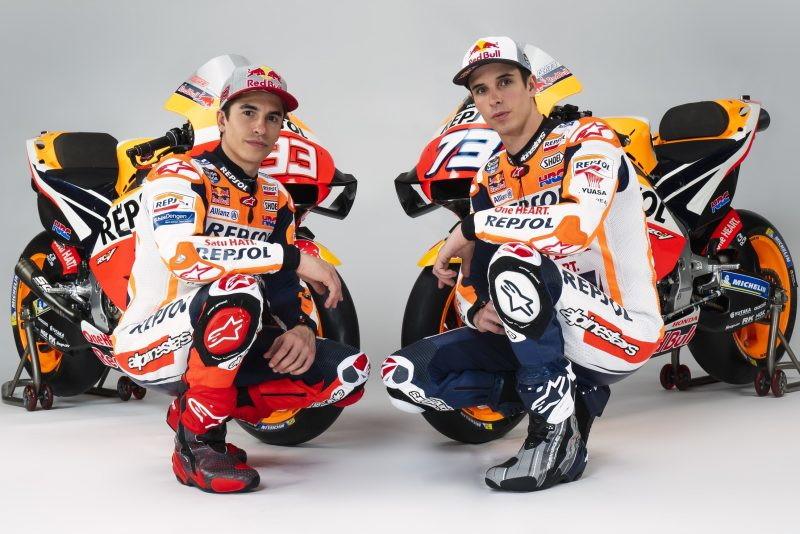 Shooting fotografico per i fratelli Marquezin vista del campionato MotoGP