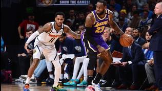 Nba: i Lakers passano a Denver, si fermano i Raptors