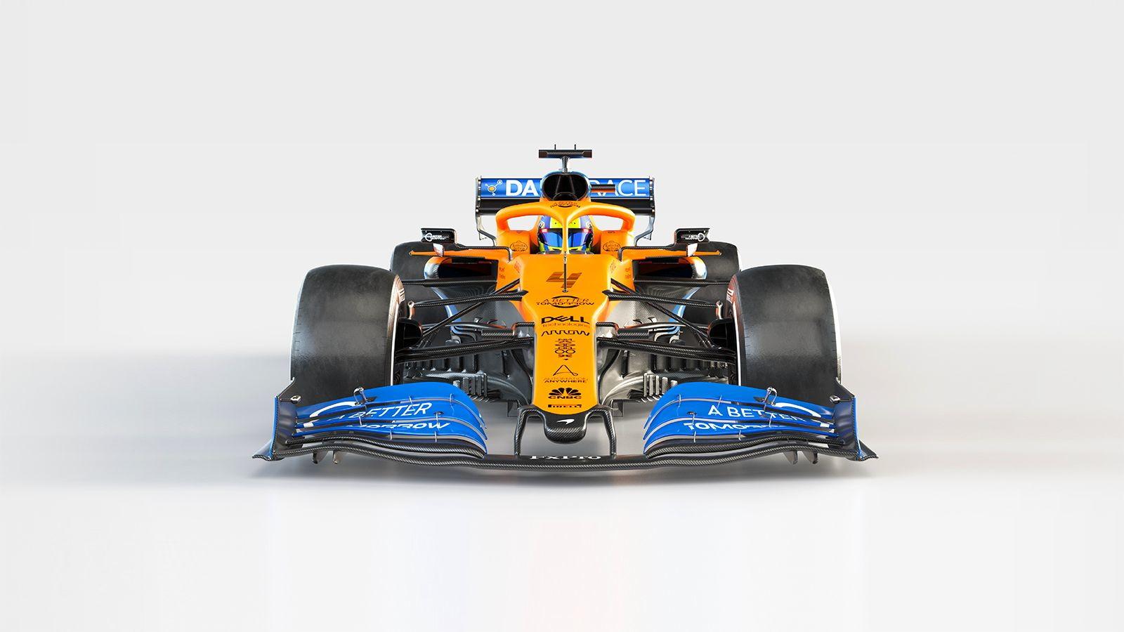 La scuderia britannica ha presentato a Woking la vettura 2020 di Norris e Sainz: confermato lo schema cromatico della scorsa stagione, con una virata sull'arancione opacoe un blu più acceso che spicca sulle pance laterali,sull'airbox e sull'alettone interiore.