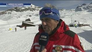 Il medico in campo: i consigli agli sciatori