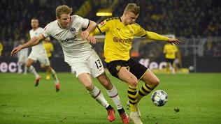 Haaland torna al gol, il Borussia aggancia il Lipsia