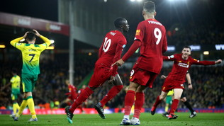 Premier League: Liverpool inarrestabile, 1-0 al Norwich