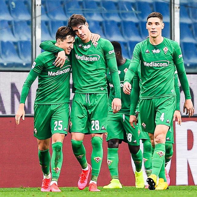 Vlahovic-Chiesa gemelli del gol: la Fiorentina affonda la Samp