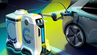 Idea Volkswagen: un robot ci ricaricherà l'auto elettrica
