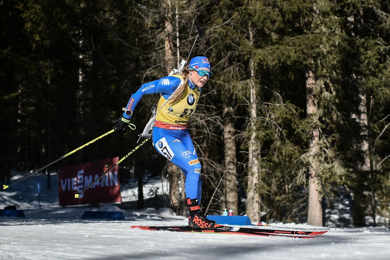 Dorothea Wierer ha vinto l'oro nella gara individuale femminile ai mondiali di biathlon ad Anterselva, bissando il successo nella gara a inseguimento.