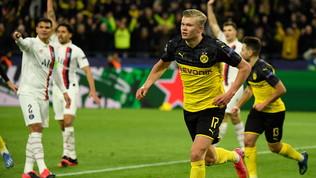 Dortmund,Haaland piega il Psg