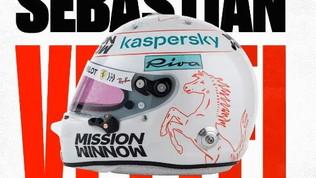 F1, ecco i caschi di Vettel e Leclerc
