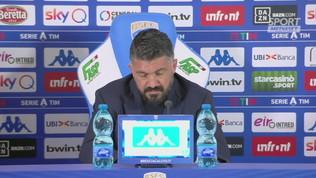 """Napoli, Gattuso: """"C'è uno spirito diverso, ma serve sempre il veleno"""""""