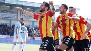 Serie B: poker del Benevento contro l'Entella, nuovo +17 sul secondo posto