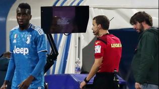Il monitor non va e il Var decreta il rigore: la prima volta in Serie A