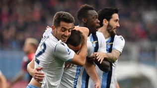 Marusic-Immobile-Cataldi, Genoa ko: la Lazio risponde alla Juve