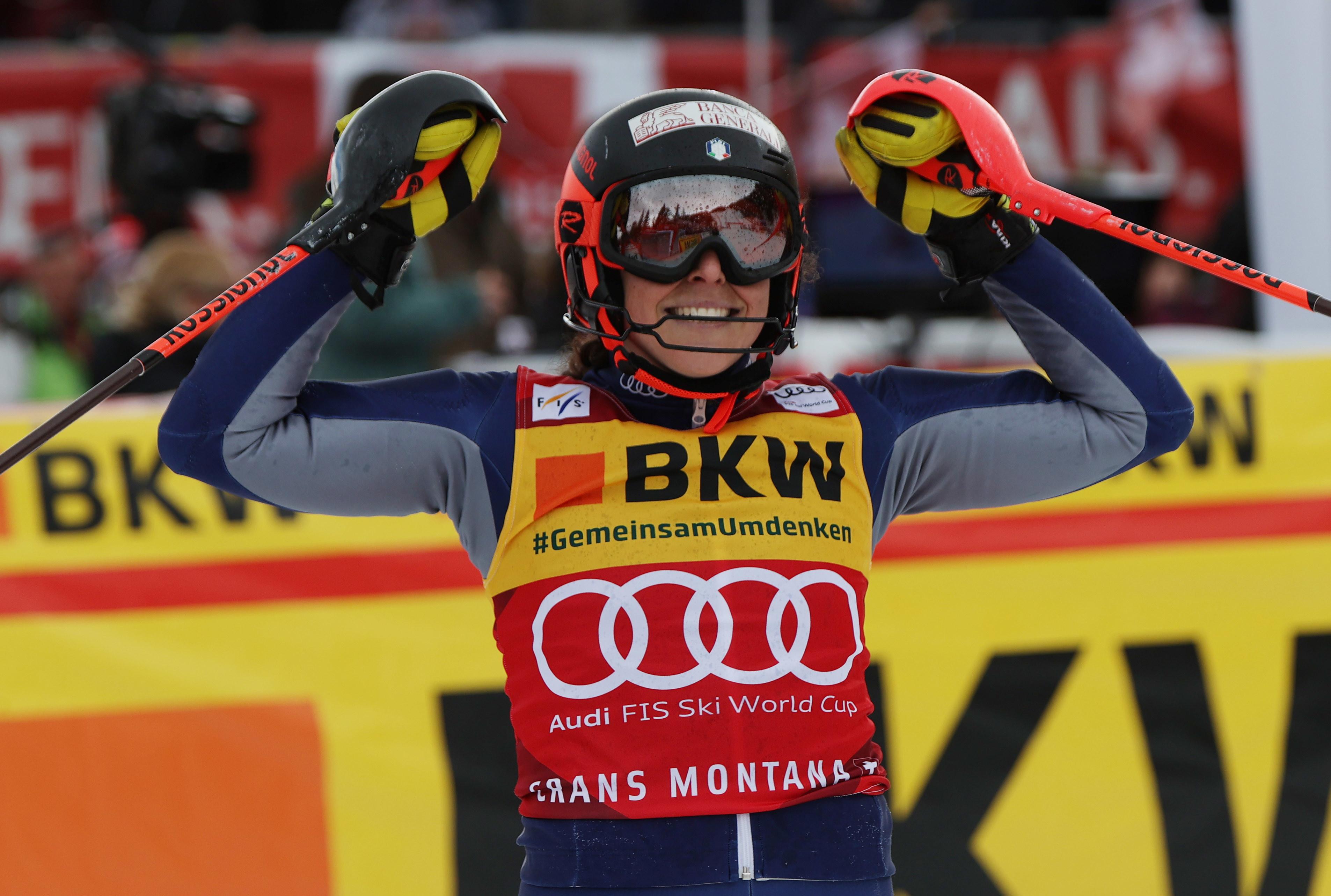 La Brignone vince la combinata di Crans Montana e diventa la nuova leader nella generale.