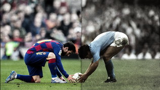 """""""Il San Paolo scrive la storia"""", confronto da brividi Maradona-Messi"""