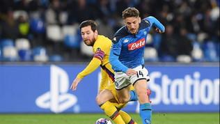 Mertens-record non basta al Napoli, Griezmann salva il Barça