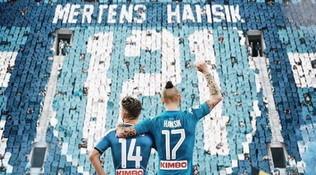 """Mertens festeggia il record con Hamsik: """"Ciao Marek!"""""""