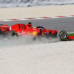 Ferrari, testacoda per Vettel a Barcellona