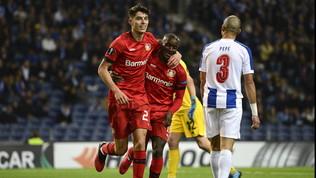 Impresa Leverkusen a Oporto,Basaksehir avanti con un rigore al 120'