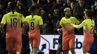 Manchester City e Leicester volano ai quarti