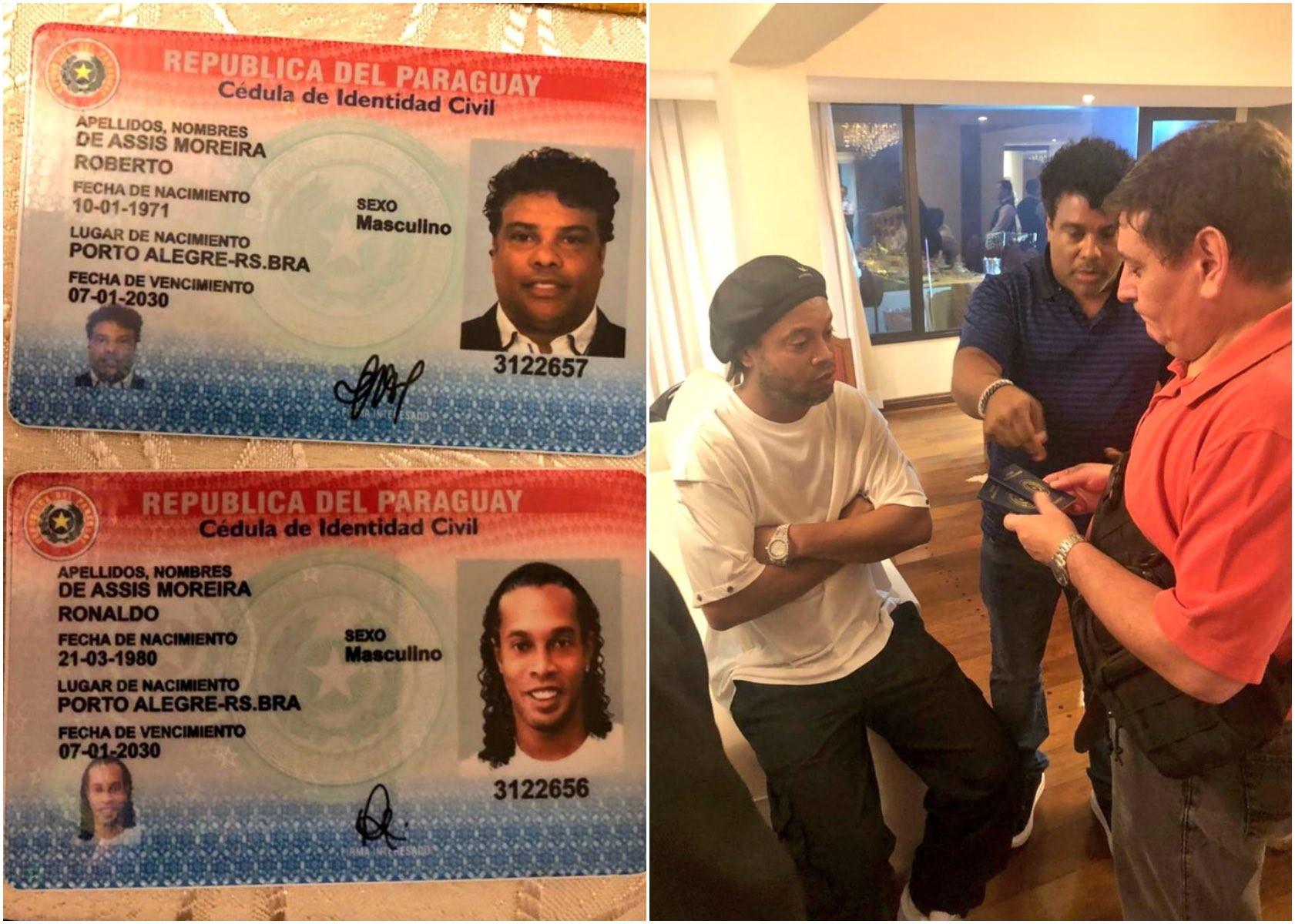 Arrestato Ronaldinho: in possesso di passaporto falso