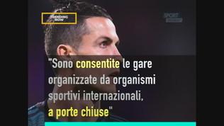 Coronavirus: Serie A no, Coppe Europee e allenamenti sì