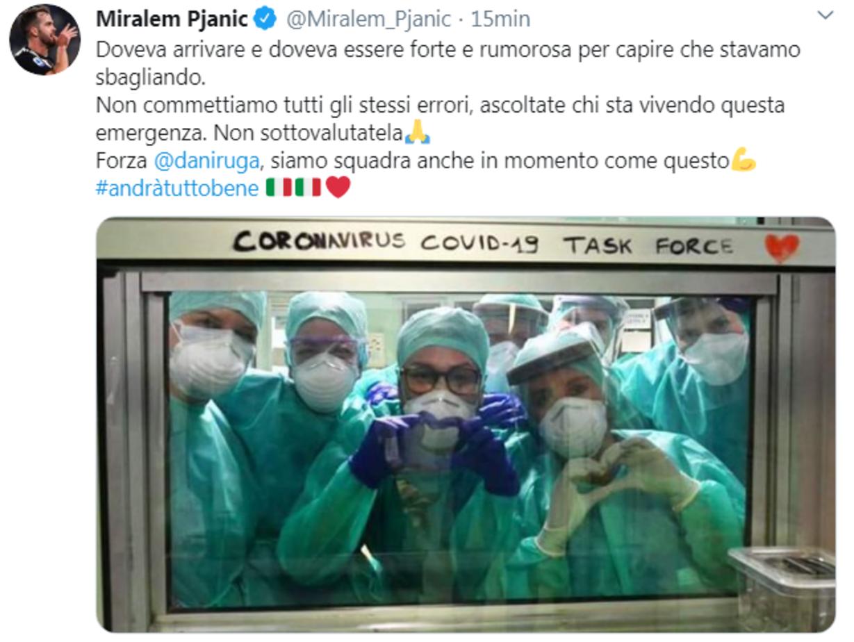 La positività di Daniele Rugani al coronavirus ha colpito il mondo del calcio. I messaggi di colleghi e club