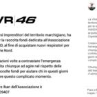 """Vale Rossi dà una mano alla sua terra con """"un generoso contributo"""""""