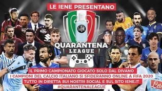 """""""Quarantena League"""": il primo torneo di Fifa 20 con i campioni del calcio"""