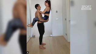 La ginnastica al bacio di Candreva