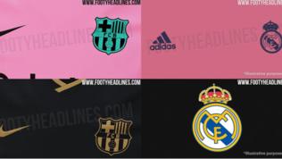 Barça e Real condivideranno rosa e nero nel 2020/21