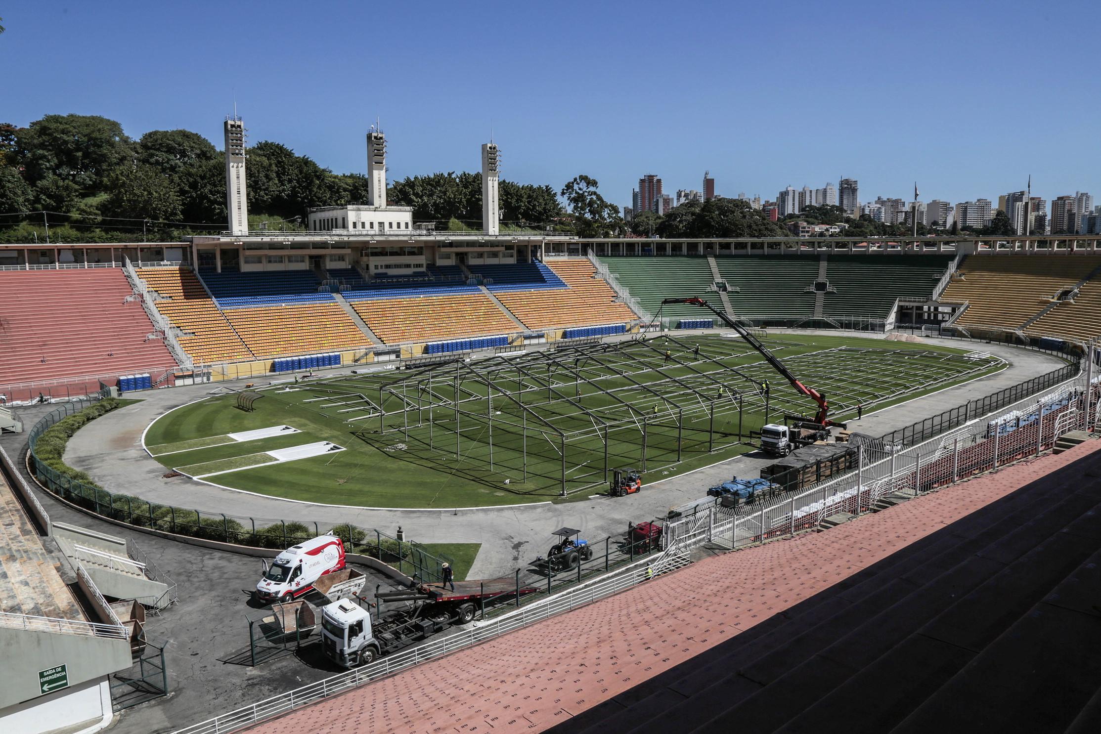 Lo stadio della città di San Paolo verrà convertito per far fronte all'emergenza coronavirus in Brasile