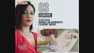 """Djokovic si """"scopre"""" artista: il suo autoritratto su Instagram"""
