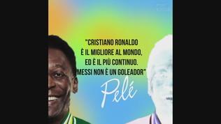 """Pelé: """"CR7 il migliore al mondo, Messi non è un goleador"""""""