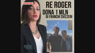 Re Roger e consorte donano un milione di franchi alla Svizzera