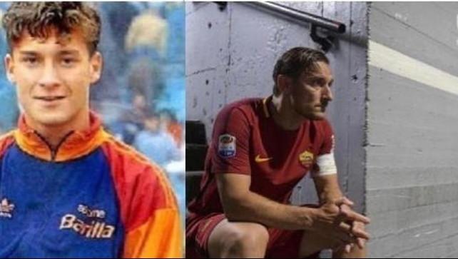 """Totti, 27 anni e """"un amore che non avrà mai fine""""   I tifosi sognano"""