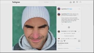 Federer ci prende gusto, altro allenamento sotto la neve
