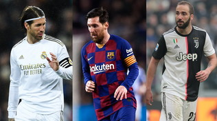 Messi, Ramos, Higuain: tutti in scadenza nel 2021