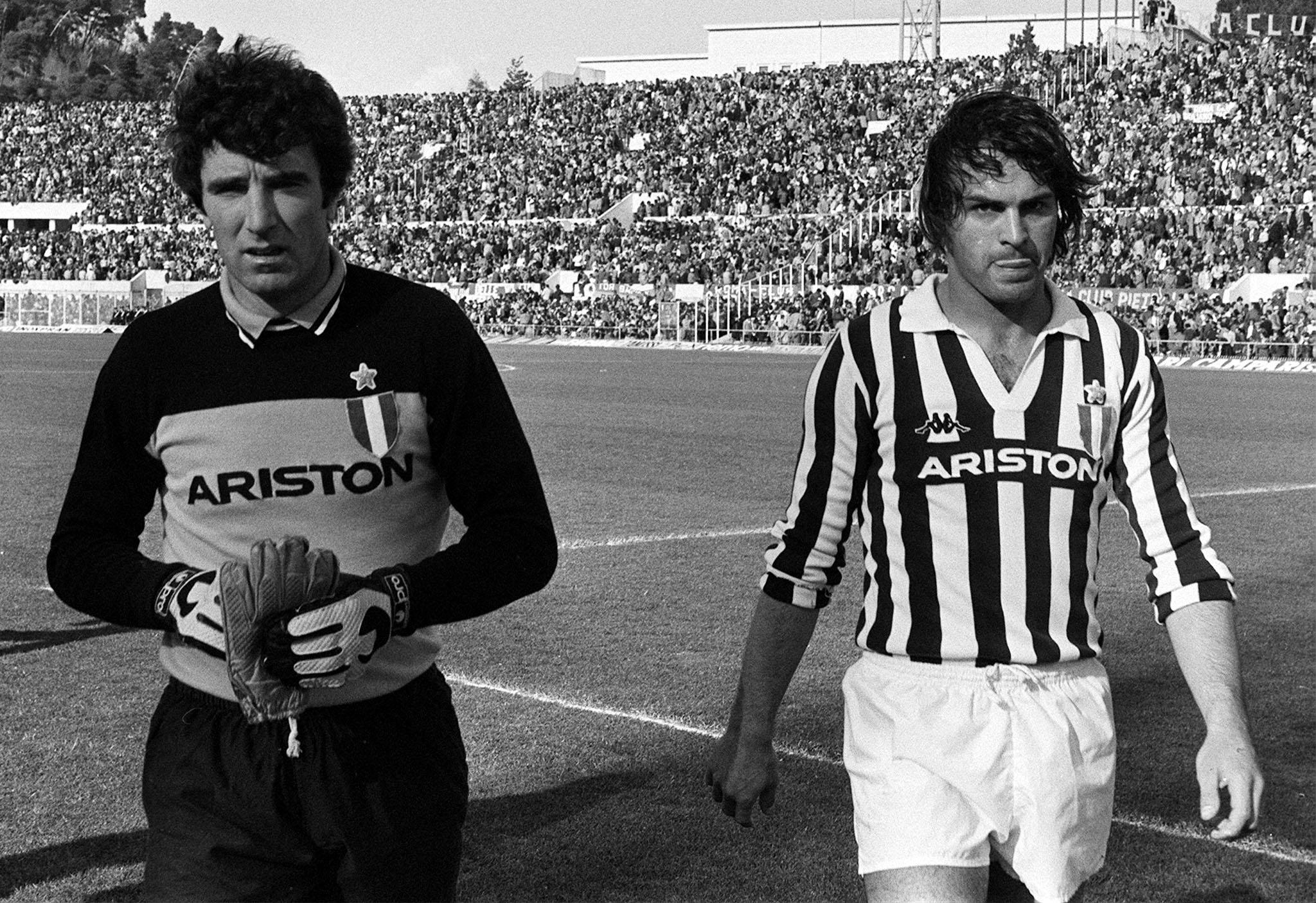 Zoff e Cabrini nel 1982, l'anno della seconda stella
